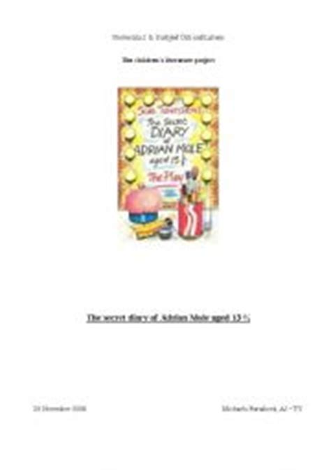 Book Report: The Secret Diary of Adrian Mole - PDF Document
